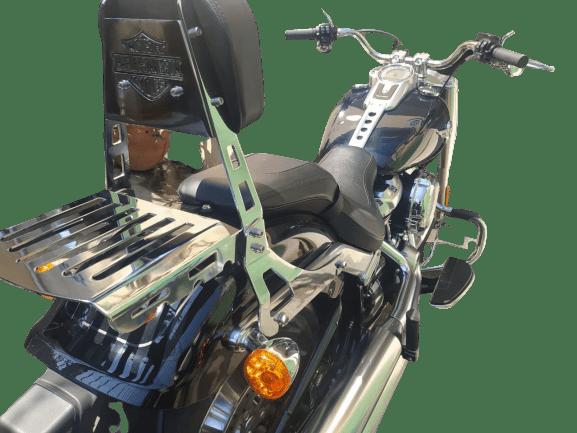 Sissy Bar Deluxe Harley Davidson Encosto e Grade Traseira