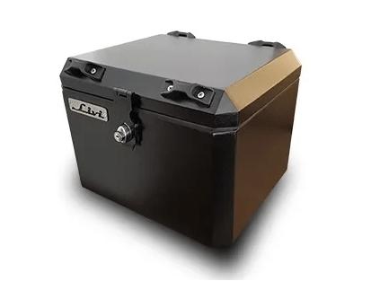 Bauleto Traseiro Central 43 litros para moto  BMW R 1200 GS + Base Traseira