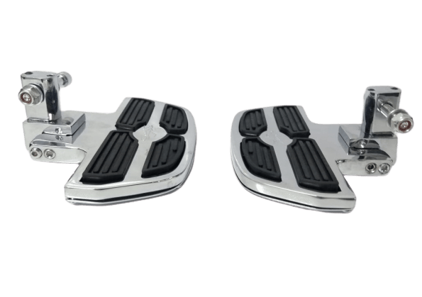 Pedaleira Traseira Harley Davidson Deluxe - Plataforma Mini Preto e Cromado - Rasante