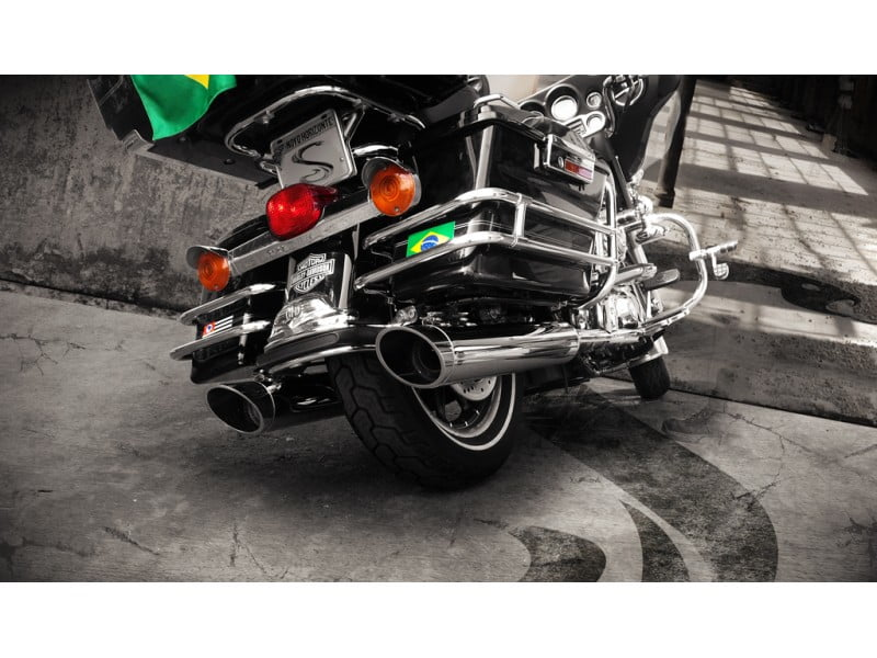 Ponteira Escapamento Harley Road King Chanfro Lateral