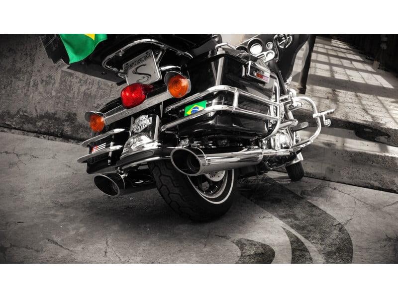 Ponteira Escapamento Harley Street Glide Chanfro Lateral Cobra