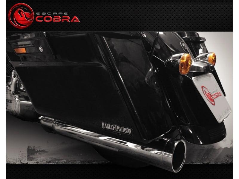 Ponteira Escapamento Harley Electra Glide Slashcut Cobra