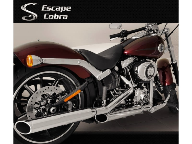 ponteira Harley Softail Breakout escapamento Cobra cromado