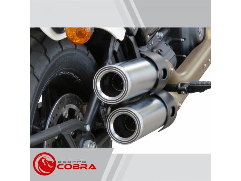 "Ponteira Softail Harley Davidson Fat Bob 2018 Sport Ø4"" Aero - Cobra"