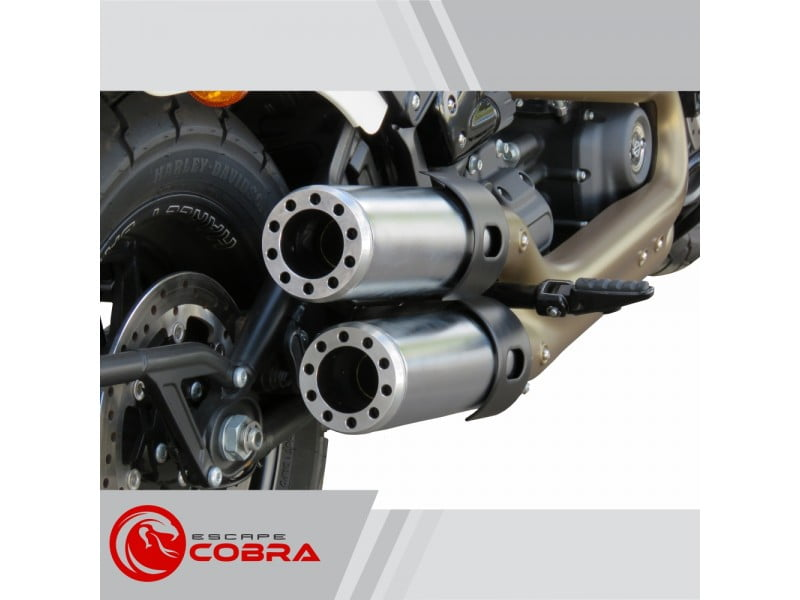 "Ponteira Softail Harley Davidson Fat Bob 2018 Sport Ø4"" Shotgun  - Cobra"