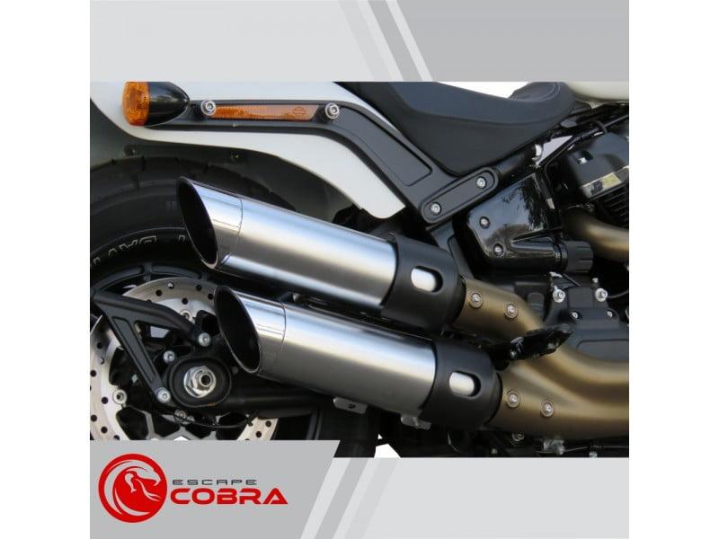 "Ponteira Softail Harley Davidson Fat Bob 2018 Sport Ø4"" Chanfro Móvel - Cobra"