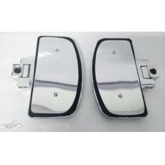 Pedaleira Traseira Honda Shadow 750  - Plataforma Articulada Preta e Cromada - Rasante