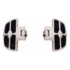 Pedaleira Dianteira Drag Star Plataforma Mini Preto e Cromado - Rasante
