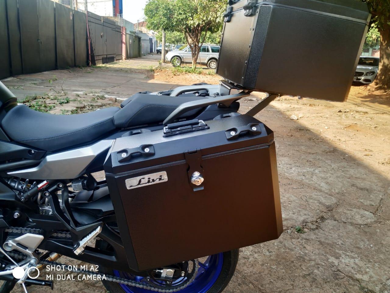 Baú Traseiro Moto Tracer 900 GT Bauleto Alumínio 43 Litros