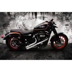 "Escapamento Harley Davidson Fúria Sportster Ø2"" XL 883 IRON 883 Preto - Promoção"