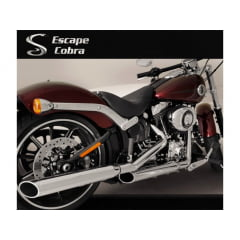 Ponteira Softail Harley Davidson Breakout Esportiva Chanfrada Preta Cobra Promoção
