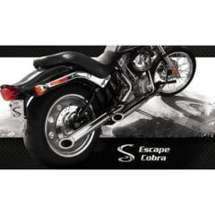 Ponteira Harley Softail FX Escapamento Cobra  Preto Promoção