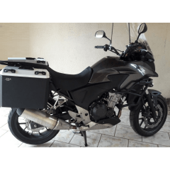 Baú Alumínio moto CB 500 X Lateral e Traseiro Bauleto CB500X Honda