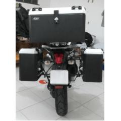 Baú Alumínio Honda Transalp XL 700 V Bauleto Lateral e Traseiro
