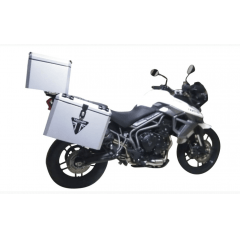 Baú / Bauleto Lateral Moto Triumph Tiger 800 Alumínio 35 litros - Livi