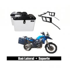 Baú Alumínio Moto BMW F 800 GS e Adventure - Bauleto Lateral  com suporte - Livi