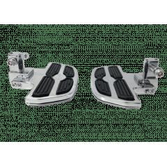 Pedaleira Dianteira Vulcan 900 Plataforma Mini Preto e Cromado - Rasante