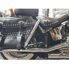 Protetor Traseiro Heritage Mata Gato Harley Cromado Preto