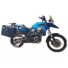 Baú Alumínio Moto BMW F 800 GS e Adventure - Kit Traseiro e Lateral  com suporte - Livi