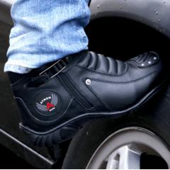 Bota Motociclista Couro Legítimo Protetor Câmbio