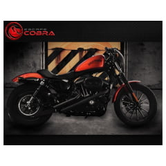 Escapamento HD Furia Moto Harley XL 1200 Iron