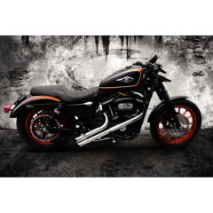 "Escapamento Harley Davidson Fúria Sportster Ø2"" XL 883 IRON 883"