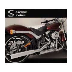 Ponteira Escapamento Softail Harley Breakout Esportiva Chanfro Móvel Cobra