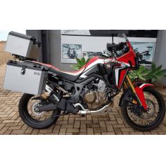 Baú Para Moto Africa Twin CRF 1000 Bauleto Lateral Honda 1000L  Caixa de Alumínio Livi Com Suportes Laterais